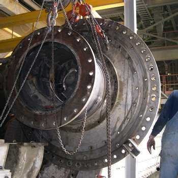 FINISH MILL DISCHARGE TRUNNION REPLACEMENT