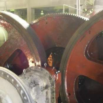 RAW MILL SYMETRO PINION BEARING REPLACEMENT